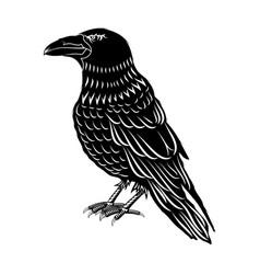 Black crow 0001 vector