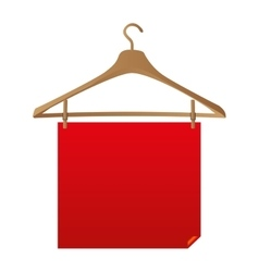 Blank sign with hanger icon image vector