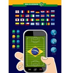 Brazil soccer championship phone infographic vector image