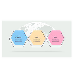 business infographic timeline with 3 options vector image