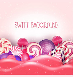 Candy pink land background vector