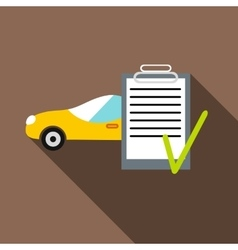 Car and car Insurance form icon flat style vector