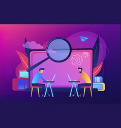 computer lab concept vector image