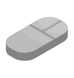 computer mouse icon isometric style vector image