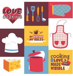 cooking utensils cooking vector image