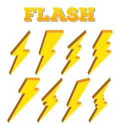 Creative thunder and bolt vector