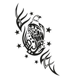 Eagle tribal tattoo vector image