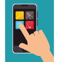 Education online smartphone aplication design vector