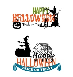 Eerie Halloween themed banners vector