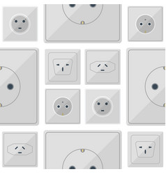 electric plugs stack outlet energy vector image