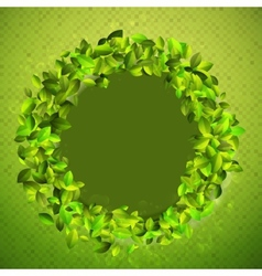 Fresh background with green leaves EPS10 vector image