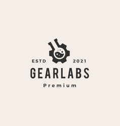 gear labs hipster vintage logo icon vector image