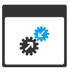 Gears Integration Calendar Page Toolbar vector image