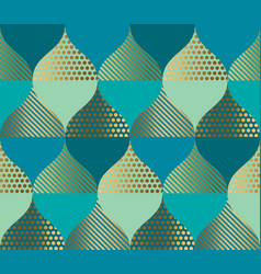 geometric curve and oriental luxury pattern vector image