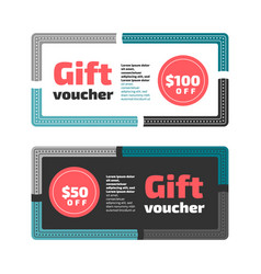 gift voucher or certificate design vector image