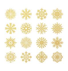 golden snowflakes christmas design templates vector image