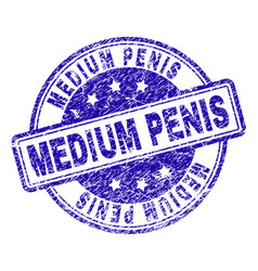 Grunge textured medium penis stamp seal vector
