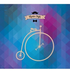 Hipster monocycle triangle background vector