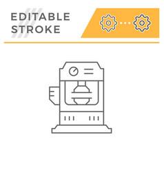 Hydraulic press machine line icon vector