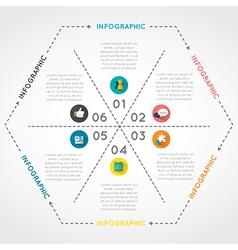 Infographic hexagon vector