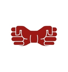 Isolated abstract brown color fists logo Human vector