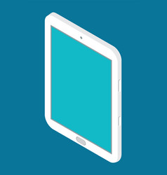 isometric tablet icon modern technology digital vector image