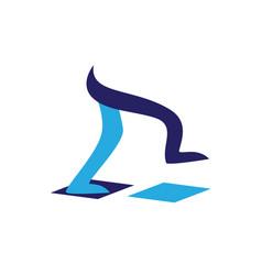 legs walking symbol vector image vector image