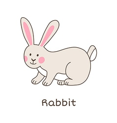 Lineart rabbit vector