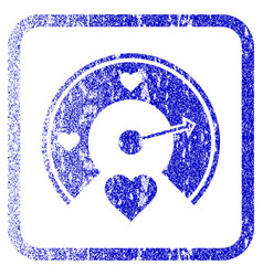 Love gauge framed textured icon vector