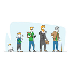 male character life cycle growth and aging vector image