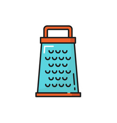 Metal grater with sharp blade isolated line icon vector