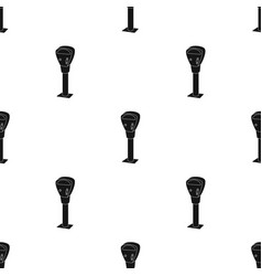 Parking meter icon in black style isolated on vector