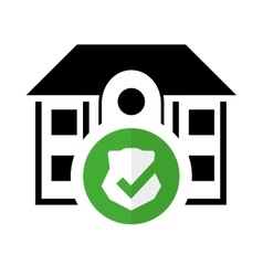 pictogram home security protected system vector image