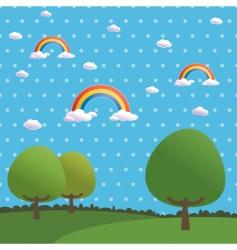 polka dot rainbows vector image