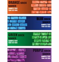 Polygon brick banner vector image