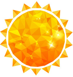 Polygonal sun background vector