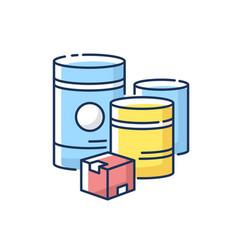 Raw materials rgb color icon vector