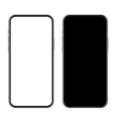 realistic smartphone with blank touch screen vector image