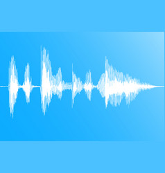 realistic sound wave vector image