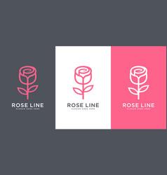 rose flower logo design vector image