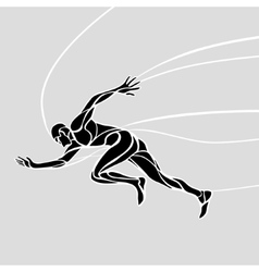 Running man abstract silhouette vector