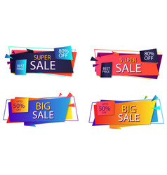 sales banner template vector image