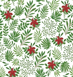 Seamless pattern with plants vector