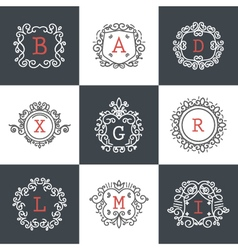 Set of Vintage Frames for Luxury Logos for cafe sh vector