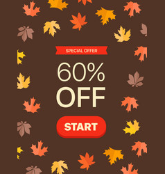 special offer concept 60 percent off vector image