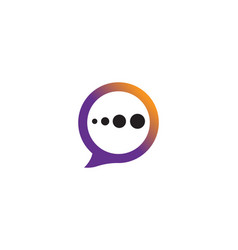speech bubble icon logo template vector image