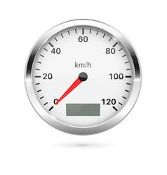 Speedometer 3d round gauge vector