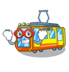 Super hero electric train isolated with the vector