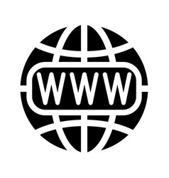 symbol of the internet and globe vector image