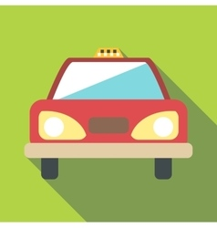 Taxi car icon flat style vector